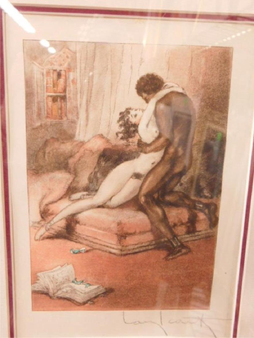 Louis Icart Erotic Drypoint Etching - 2