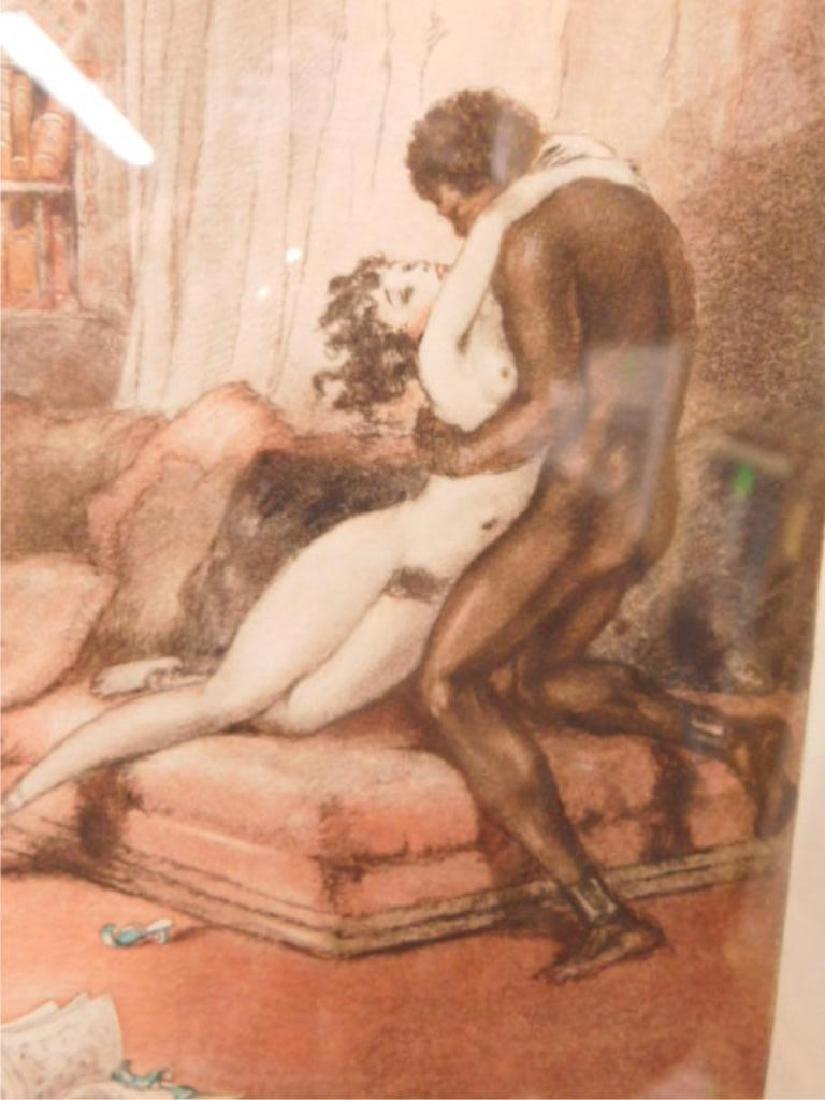 Louis Icart Erotic Drypoint Etching - 4