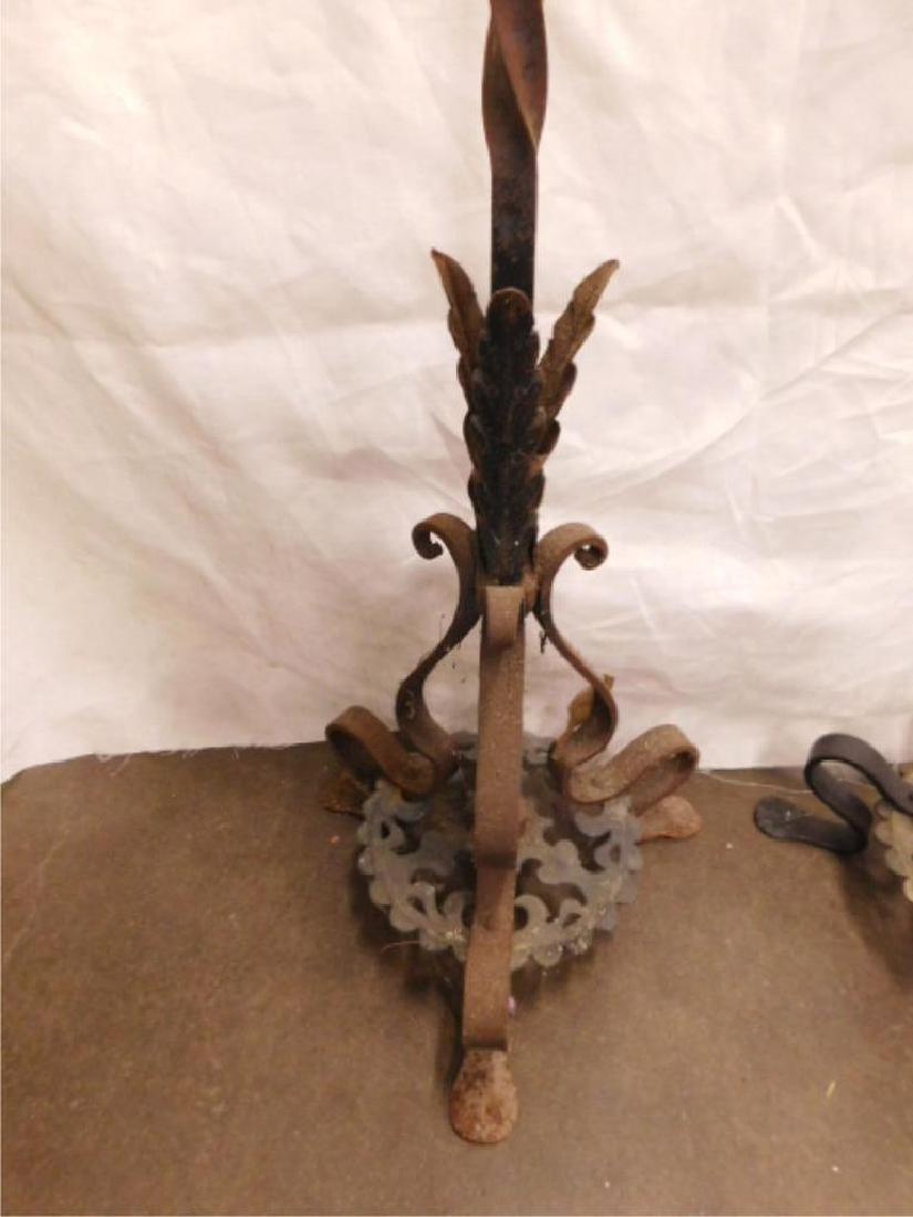 Jacobean Style Wrought Iron Floor Candelabra - 4
