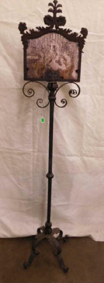 Renaissance Style Wrought Iron Floor Lamp