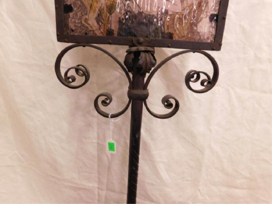 Renaissance Style Wrought Iron Floor Lamp - 3