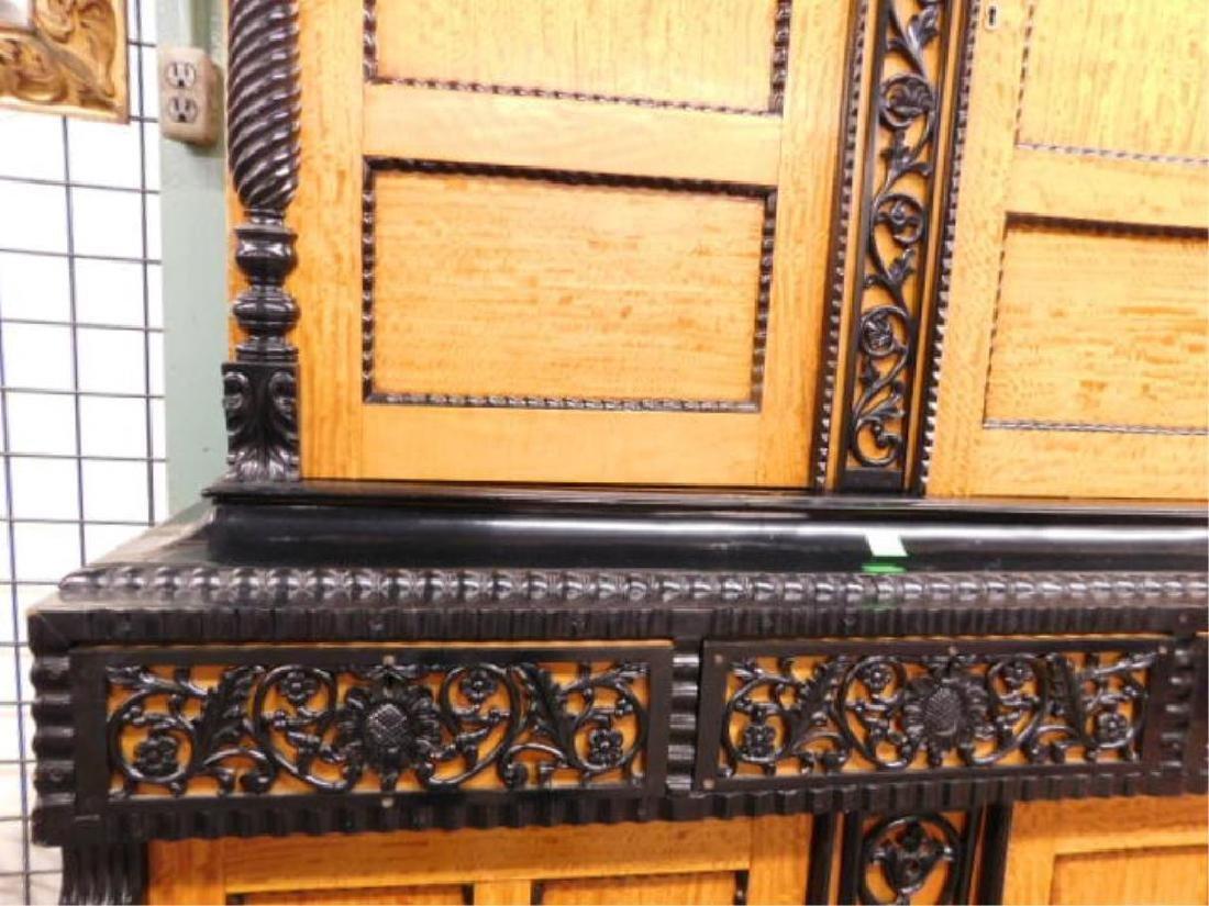 Biedermeier Style Curly Maple Custom Cabinet - 3