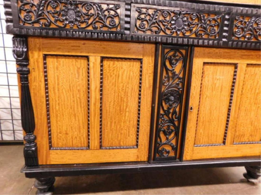 Biedermeier Style Curly Maple Custom Cabinet - 4