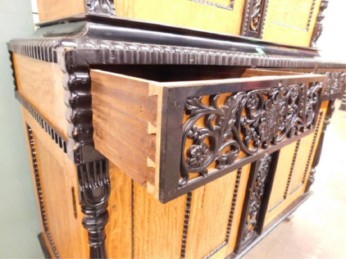 Biedermeier Style Curly Maple Custom Cabinet - 5