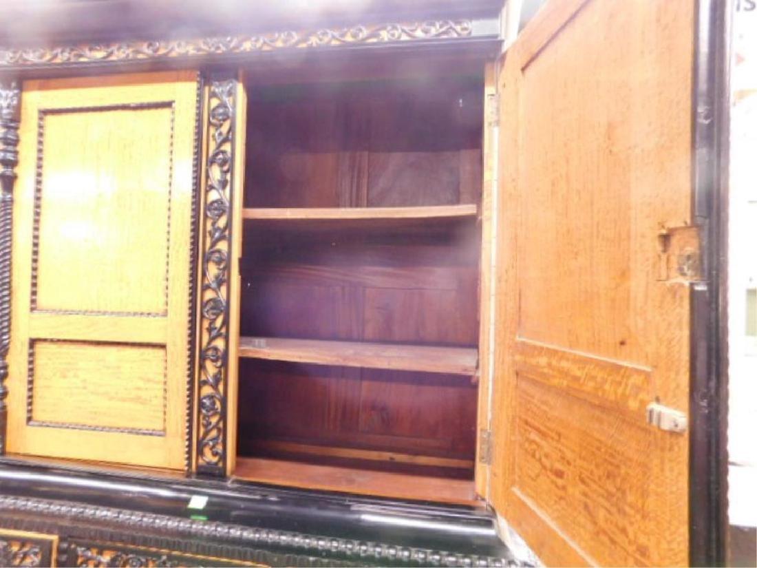 Biedermeier Style Curly Maple Custom Cabinet - 6
