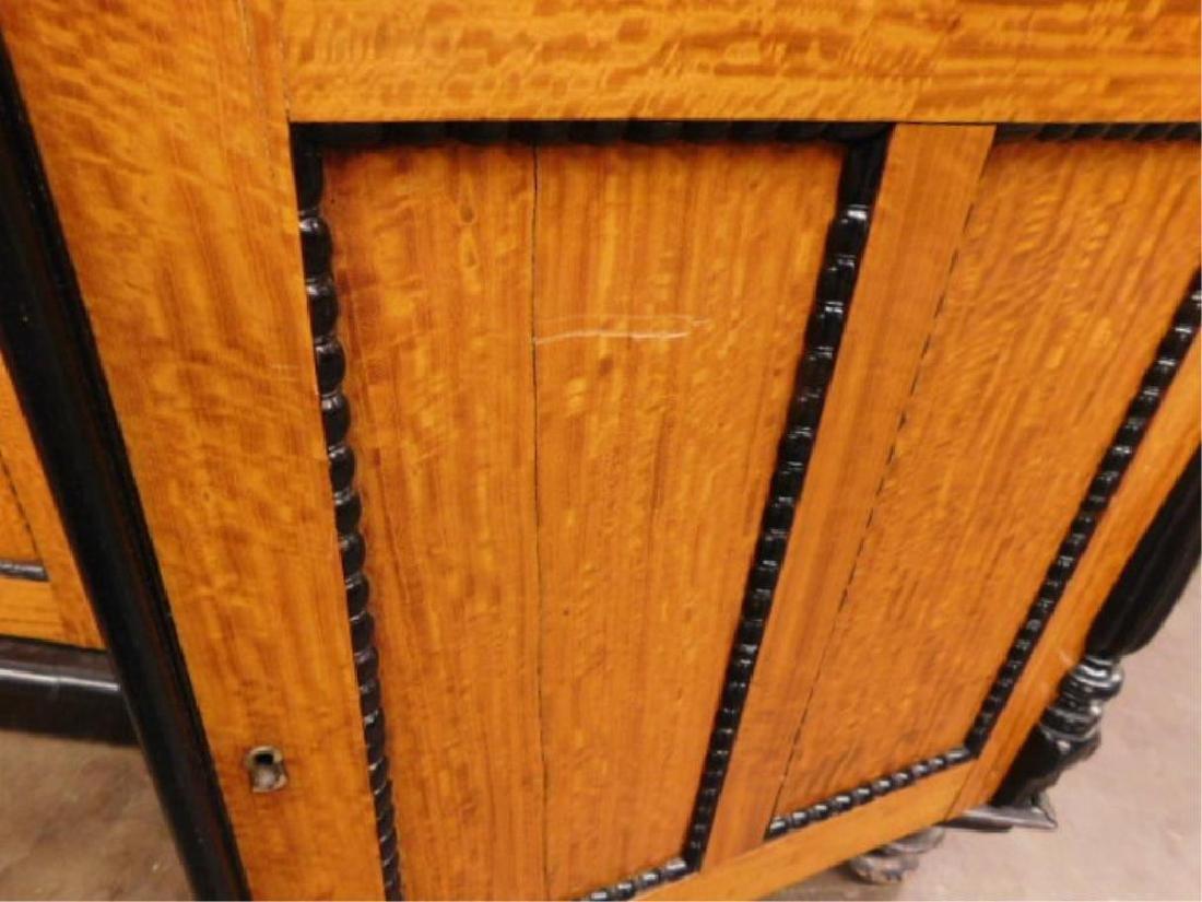 Biedermeier Style Curly Maple Custom Cabinet - 7