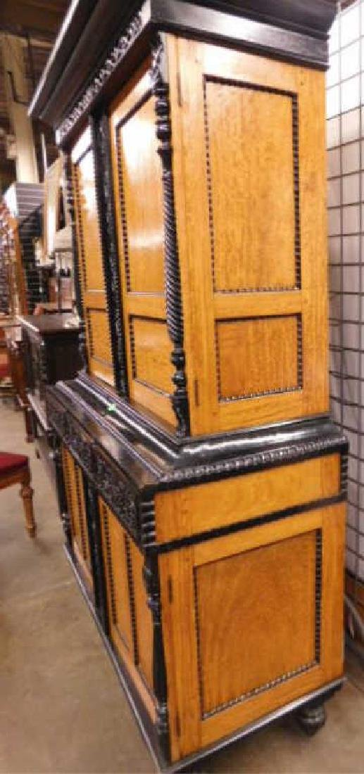 Biedermeier Style Curly Maple Custom Cabinet - 9