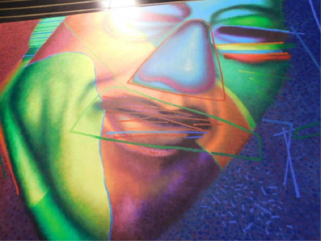 Ed Paschke Signed Oil Painting On Linen