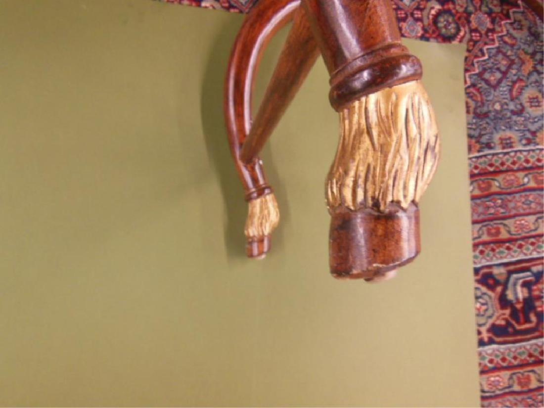 Neoclassical Style Hardwood Curule Bench - 4