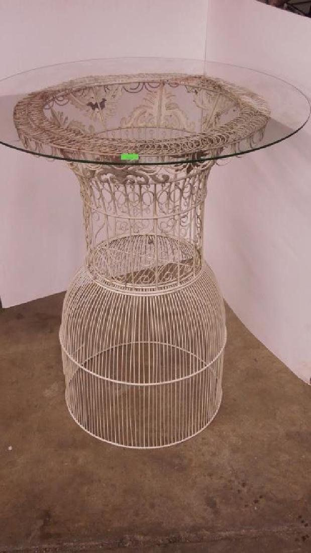 Victorian Wire Work Bird Cage Table