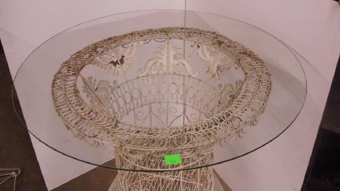 Victorian Wire Work Bird Cage Table - 2