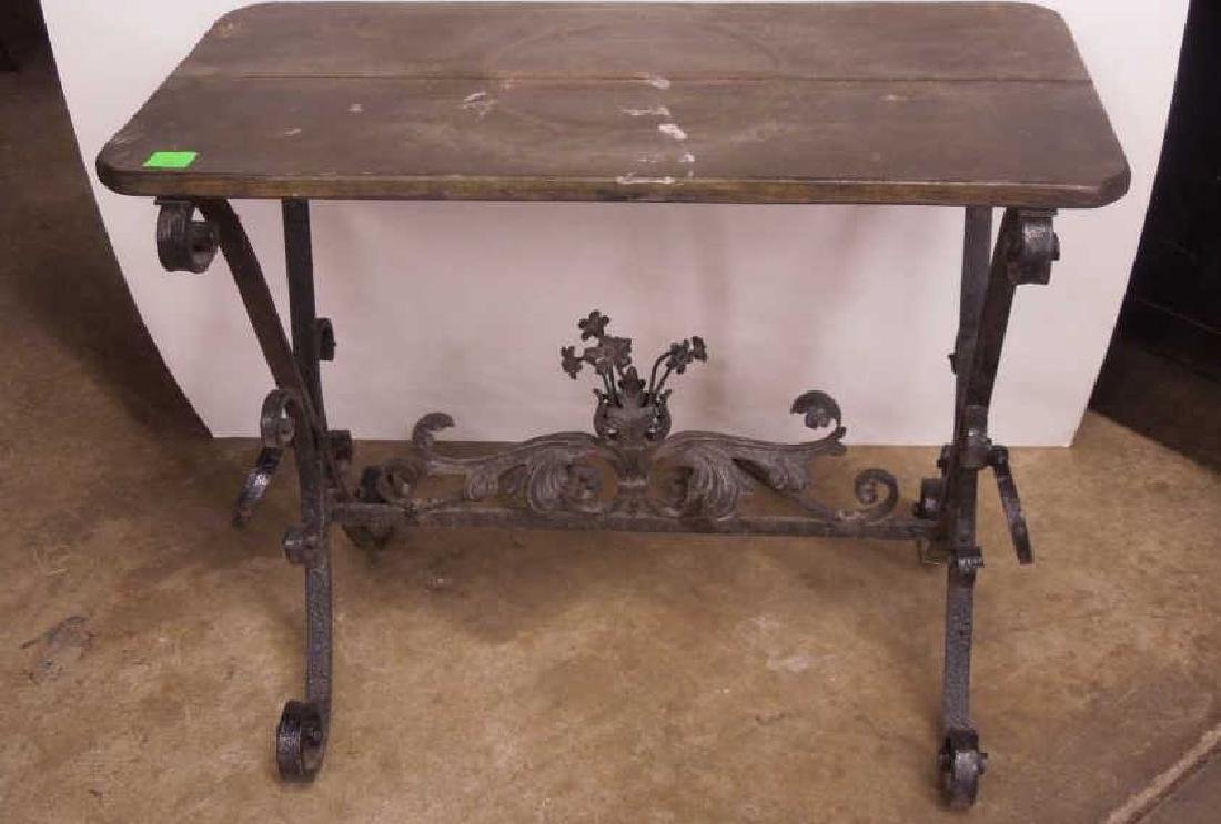 Wrought Iron Plant Table