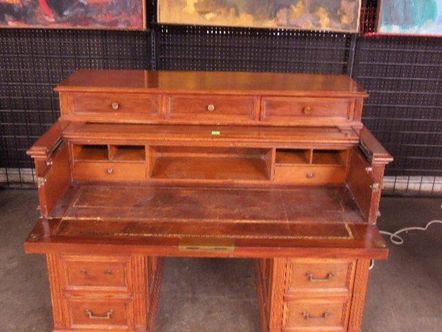 Victorian Walnut Clerk's Desk - 2