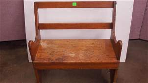 Primitive Childs Pine Bench