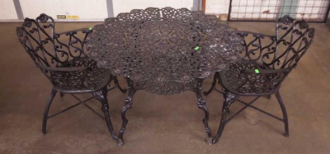 Three Piece Cast Aluminum Patio Set