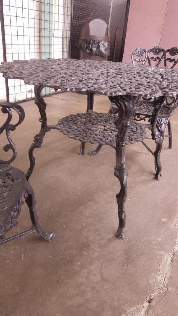 Three Piece Cast Aluminum Patio Set - 3