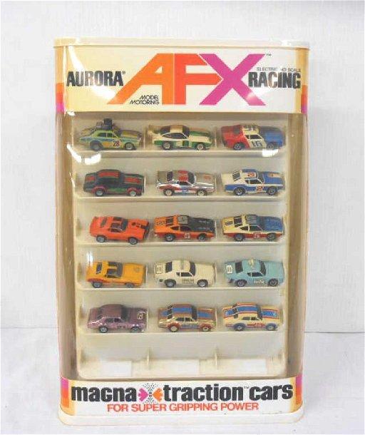 Aurora Magnatraction Slot Car Store Display