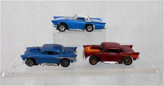 Tyco AFX 57 Chevy  57 TBird Slot Cars