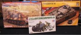 3 German WW II Model Kits