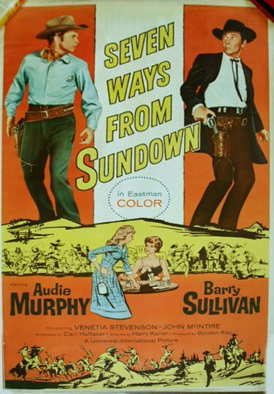 "1002: 1960 ""Seven Ways From Sundown"" movie poster"