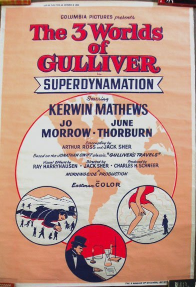 "1005: 1960 ""The Three Worlds of Gulliver"" movie poster"