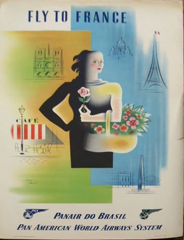 1011: 1949 Panair do Brasil travel poster