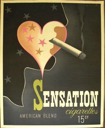 1015: 1939 Cigarette poster