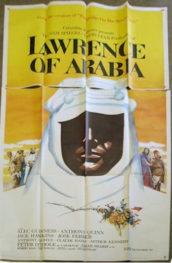 1097A: 1962 Lawrence of Arabia movie poster