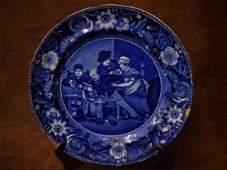 Historical Blue Transferware Plate