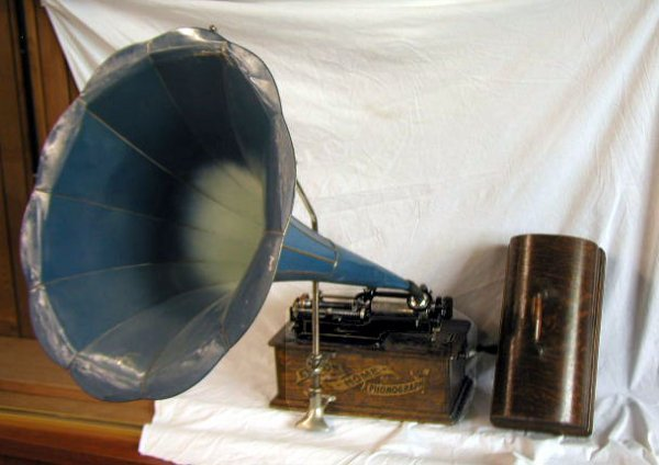 2131: 1900's Edison Home Model Cylinder Phonograph