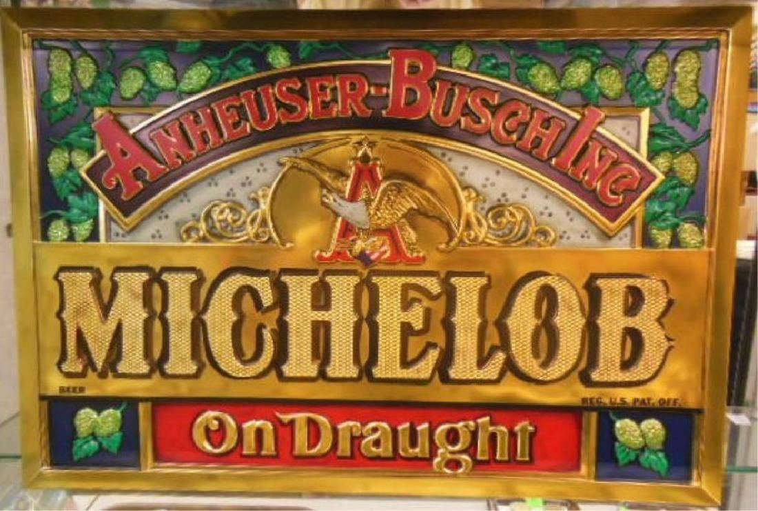 Vintage Michelob Beer Display Sign