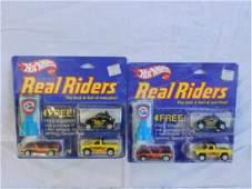 Hot Wheels Real Riders Three Packs