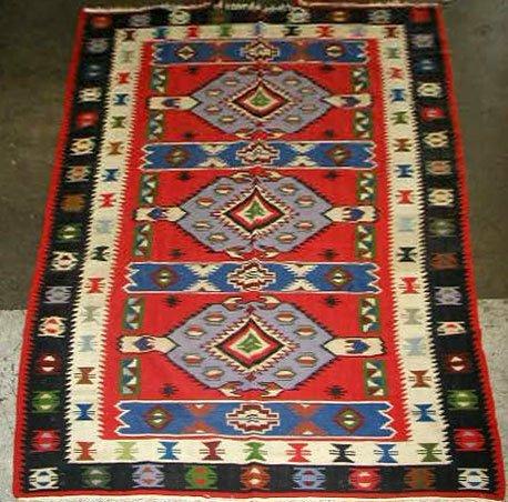 3077: Antique Kilim Carpet