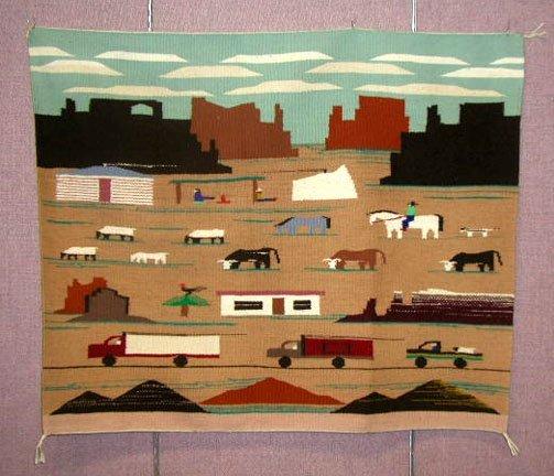 3077C: Contemporary Navajo Rug