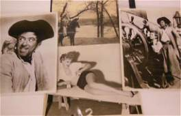 4 Large Vintage Celebrity Photos & Signed Letter