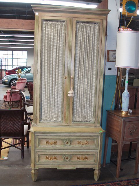 1005: Louis XVI style softwood bookcase