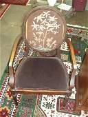 1041 Pr Adams style open arm chairs