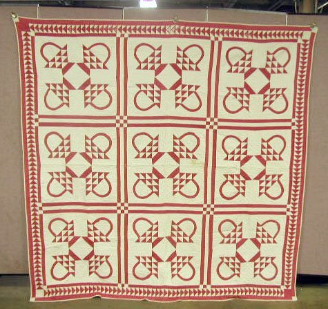 2001: 20th C. Red Square Quilt