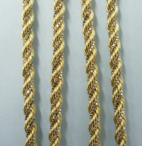 3002: Rope chain in 14k yellow and white gold - 2