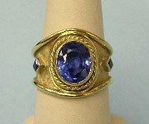 3010: Gold and tanzanite ring