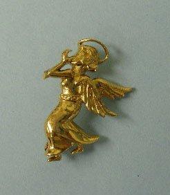 3021: 18 k gold angel pin