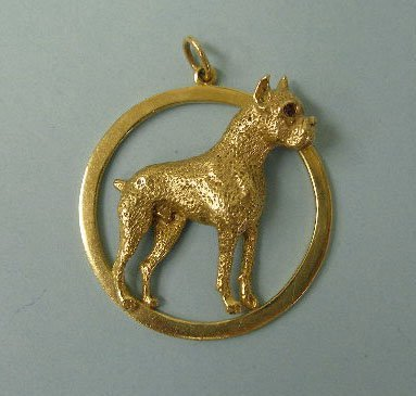 3022: Boxer dog pendant