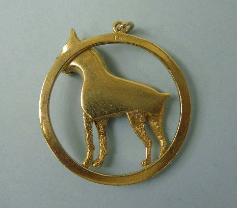 3022: Boxer dog pendant - 2