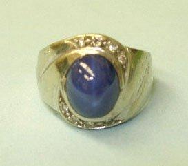 3057: Gents ring 14k White gold