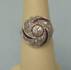 3058: Deco platinum ring
