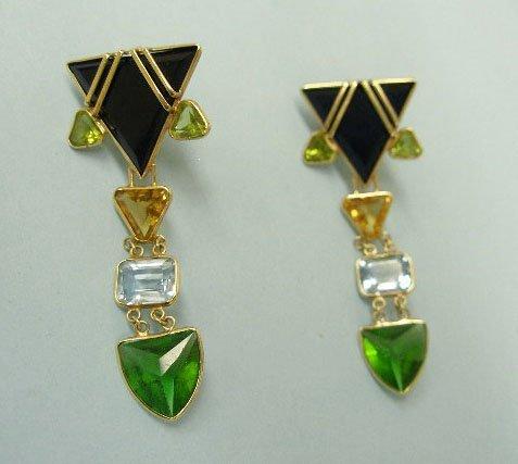 3060: Pierced pendant earrings