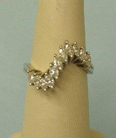 3061: 18k white gold ring