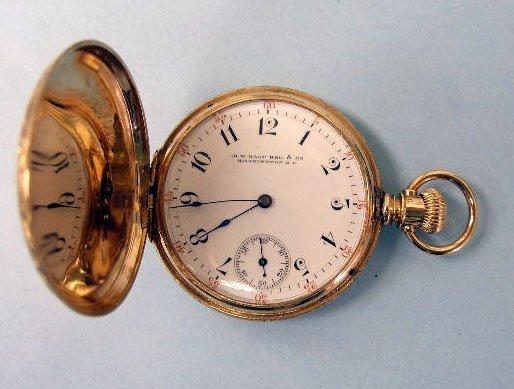 3063: 14K YG Pocketwatch, M.W. Galt Bros. & Co.