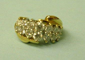 3070: 14k Yellow Gold Diamond Ring