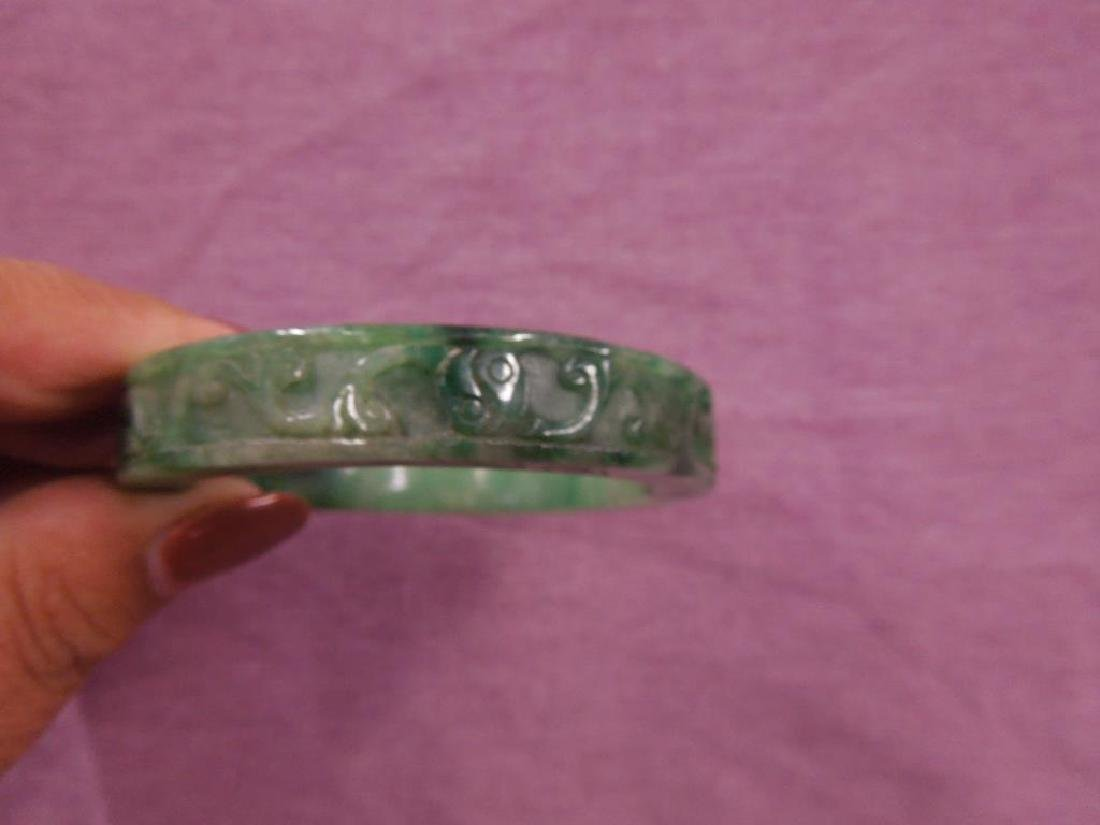 5 Chinese Jade Bangle Bracelets - 2